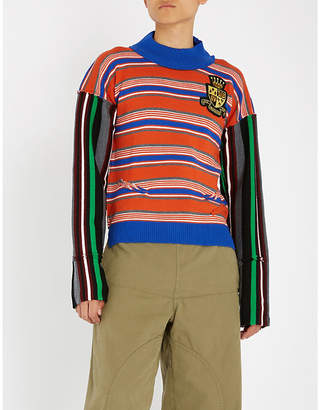 J.W.Anderson Deconstructed striped wool jumper