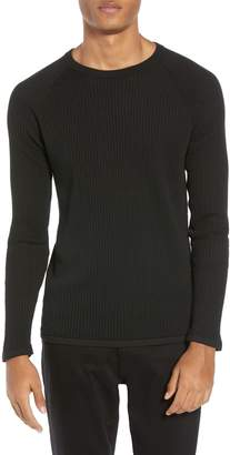 Theory Amadeo Regular Fit Textured Cotton Sweater