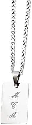 "Steel By Design Stainless Steel Polished Engravable Pendant and24"" Chain"
