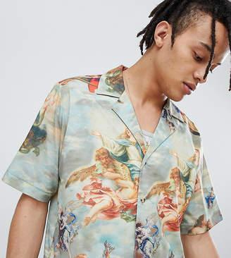 Reclaimed Vintage inspired printed revere collar shirt