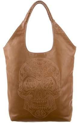 Nada Sawaya Printed Leather Tote