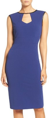 Women's Eci Keyhole Neck Midi Sheath Dress $88 thestylecure.com