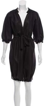 David Szeto Short Sleeve Knee-Length Dress