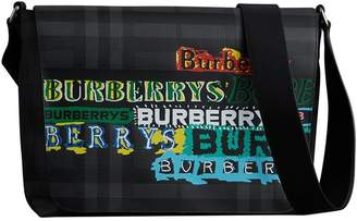 Burberry Large Logo Print Messenger Bag