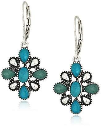 Chaps Women's Flower Drop Earrings