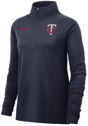 Nike Women Minnesota Twins Half-Zip Element Pullover