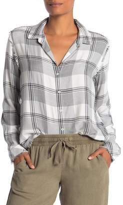 Cloth & Stone Fray Hem Button Down Shirt