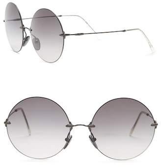 Christopher Kane Women's Oversized Round Metal 50mm Sunglasses