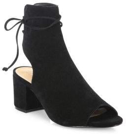 Binalia Cutout Suede Block-Heel Booties $180 thestylecure.com