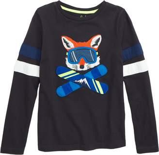 Boden Mini Winter Sports Applique T-Shirt