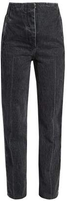 The Row Stind High Rise Straight Leg Jeans - Womens - Black