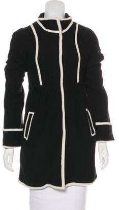 Alice + Olivia Wool Knit Short Coat