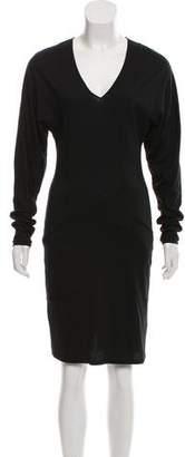 Helmut Lang Virgin Wool-Blend Knee-Length Dress