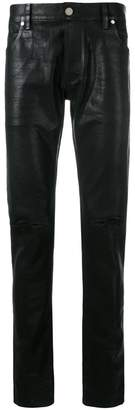Balmain coated skinny jeans