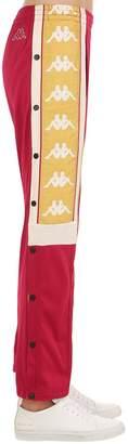 Kappa Snap Button Sweatpants W/ Logo Bands