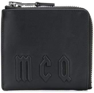 McQ logo zip around wallet