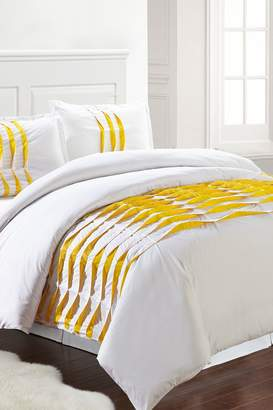 Isabella Collection Amrapur Duvet Set - White/Yellow