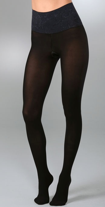 Commando Paisley Waistband Matte Opaque Tights