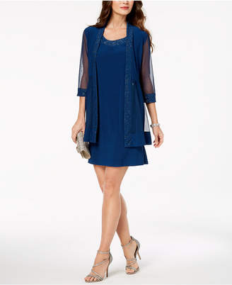 R & M Richards Embellished Dress & 3/4-Sleeve Jacket