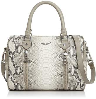 Zadig & Voltaire Sunny Small Python-Embossed-Leather Satchel
