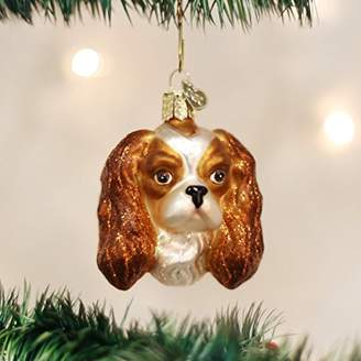 64792fda04a Old World Christmas King Charles Spaniel Head Glass Blown Ornament