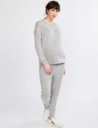 Splendid Pea Collection Under Belly Hacci Knit Maternity Jogger Pant