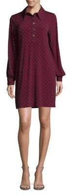 MICHAEL Michael Kors Rope-Geo Print Split Shirt Dress