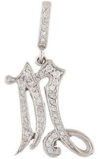 Loree Rodkin 18K Diamond 'M' Initial Pendant