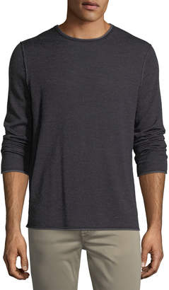 Neiman Marcus Wool-Blend Crewneck Sweater
