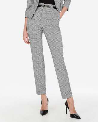 Express High Waisted Pleated Plaid Ankle Pant