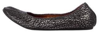 Lanvin Metallic Leather Flats