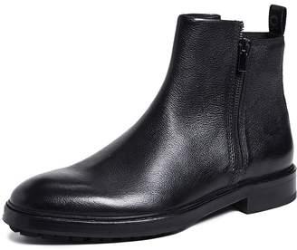 HUGO Bohemian Leather Zip Boots