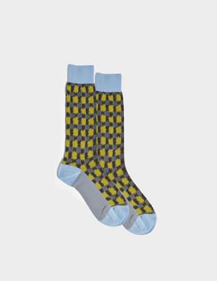 Marni Check Sheer Socks in Black Mixed Material