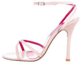 Charles David Leather Ankle Strap Sandals