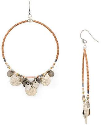 Chan Luu Mix Beaded Multicharm Hoop Earrings