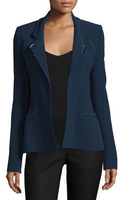 Thierry Mugler Strong-Shoulder Open-Front Jacket, Navy $1,830 thestylecure.com