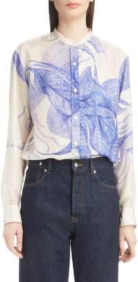 Dries Van Noten Floral Silk Blouse