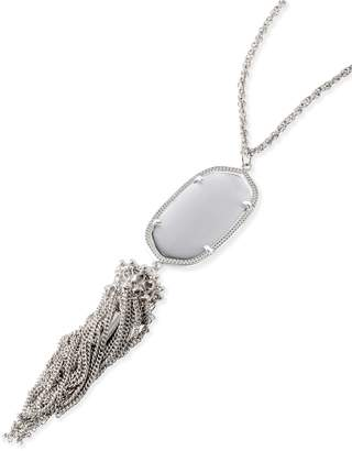 Kendra Scott Rayne Long Pendant Necklace in Silver