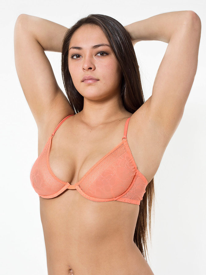 American Apparel Abstract Lace Full Coverage Bra