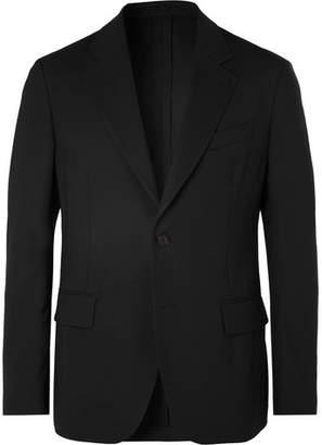 Versace Black Virgin Wool Suit Jacket - Black