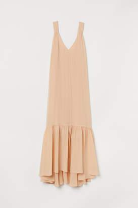 H&M Long Silk Dress - Beige