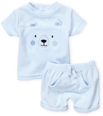 Absorba Newborn/Infant Boys) Two-Piece Terry Bear Tee & Short Set