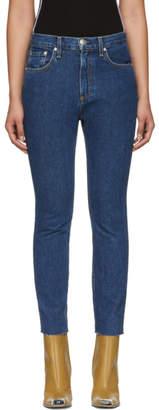 Rag & Bone Blue High-Rise Ankle Skinny Jeans