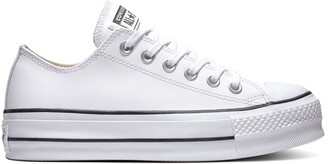 Converse CTAS Lift Clean Leather Low Top Platform Trainers