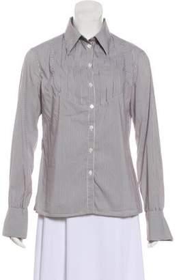 Armani Collezioni Striped Button-Up Top
