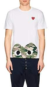 Comme des Garcons Men's Cotton Camouflage Heart T-Shirt-White