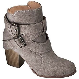 Women's Mossimo Supply Co Jessica Genuine Suede Strappy Boots $49.99 thestylecure.com