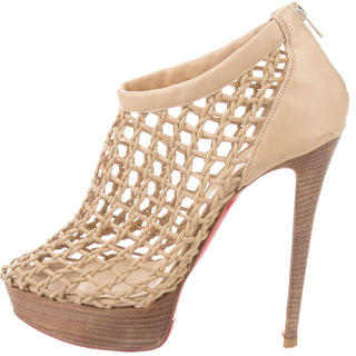 Christian Louboutin  Christian Louboutin Cage Leather Pumps