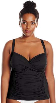 LaBlanca La Blanca Women's Plus-Size Island Goddess Over The Shoulder Sweetheart Tankini