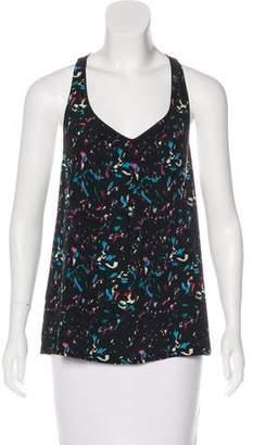Myne Printed Sleeveless Silk Top